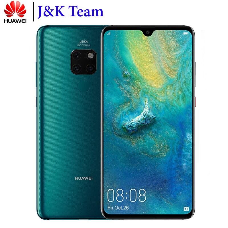 Huawei Коврики 20 смартфон с NFC Android 9,0 huawei Kirin 980 6,53 дюймов 3 назад камера мобильного телефона 4000 мАч Батарея мобильного телефона