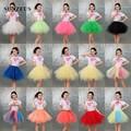 Bonito Curto Petticoat Colorido Tulle Jupon Crinolina Underskirt Enaguas Bonito Meninas Dançando