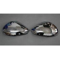 2 sztuk dla Peugeot 308 RCZ 2009-2012 ABS Chrome lusterko wsteczne pokrywa wykończenia lusterko wsteczne lustro dekoracji 68 samochodu stylizacji