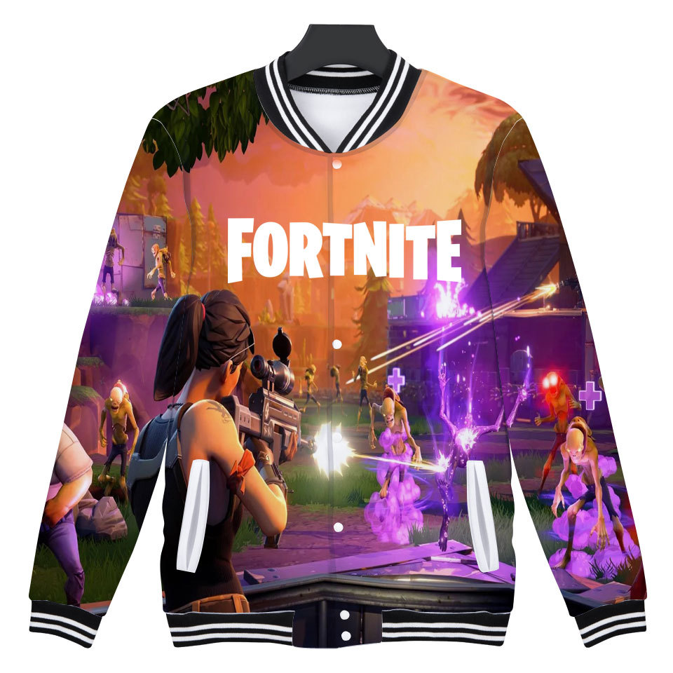 Fortnite Baseball Jacket 3D Hoodies Sweatshirt Tops Pullovers Men Pop Funny FPS Games Hoodies WOMEN Sweatshirts Jacket XXS-4XL