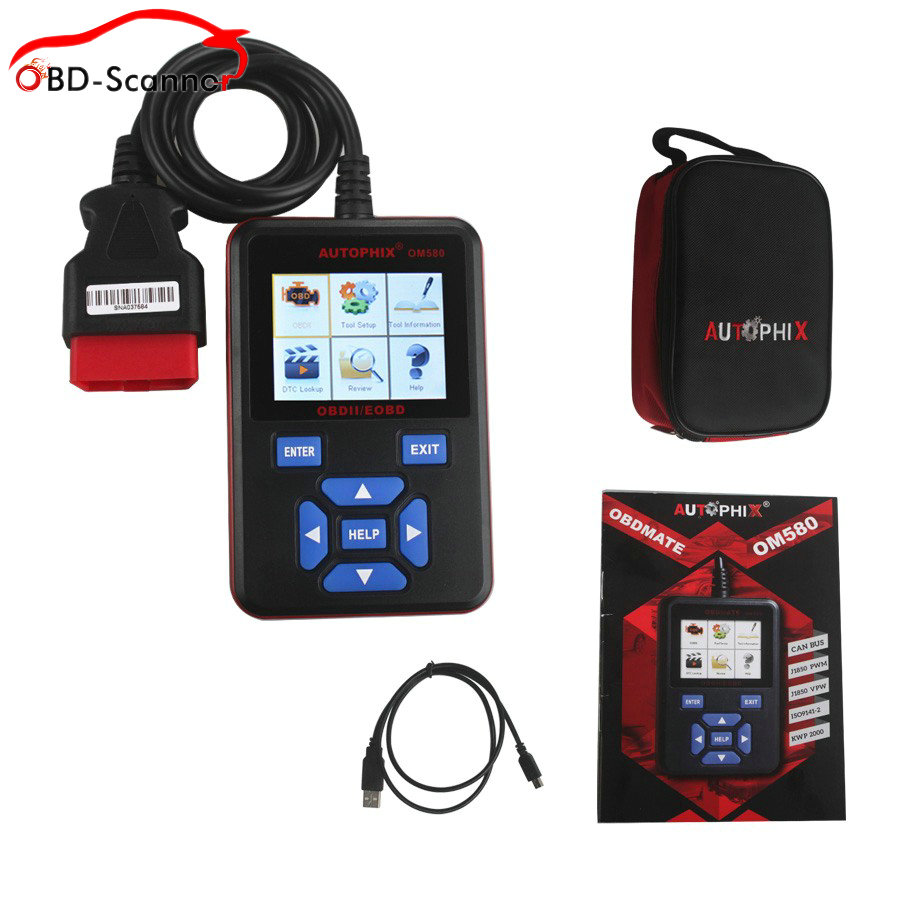 ФОТО ALL OBD II protocols Autophix OM580 OBD Scanner Automotive OBD2/EOBD Car Code Reader For Engine OBD Fault Diagnostic Tool