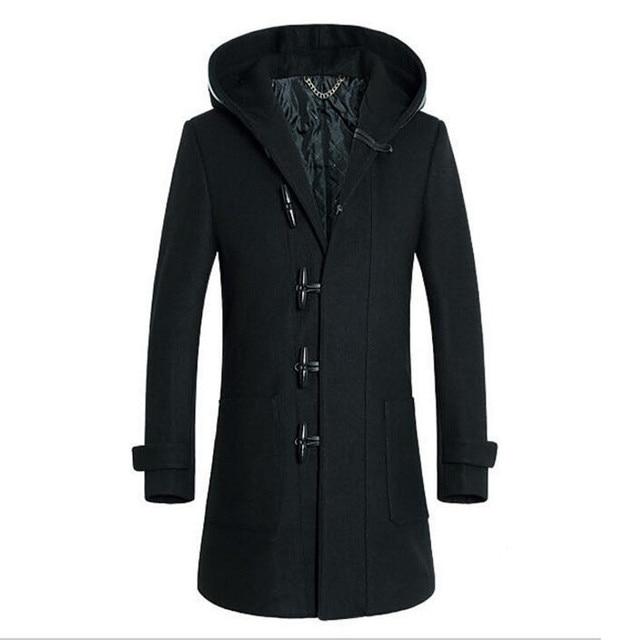 2016 Mens Wool Winter Jacket Long Woolen Men's Overcoat Warm Wool Outwear winter jacket men manteau homme casaco JK003