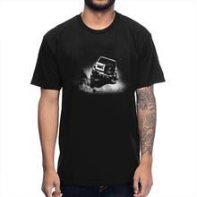 Off Road Auto Auto di Pattuglia GU Tee Shirt Pazzo FJ Cruiser T-Shirt in Puro Cotone Design Unico T Camicia(China)