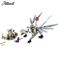 259 pcs 10323 building blocks supplies figures Ninjagoed Titanium Dragon Ninjagoed action Figures Christmas gifts Model diy Toys