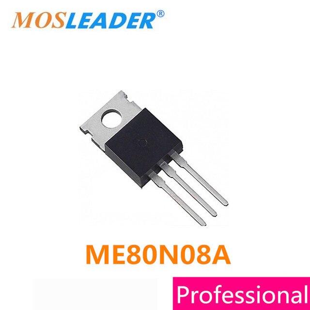 Mosleader DIP ME80N08A TO220 100 ADET TO220 3 ME80N08 80N08 Mosfets Yüksek kaliteli