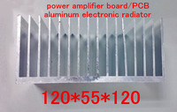Free Ship High Power Radiator Aluminum Heat Sink 120 55 120mm Power Amplifier Board PCB Aluminum