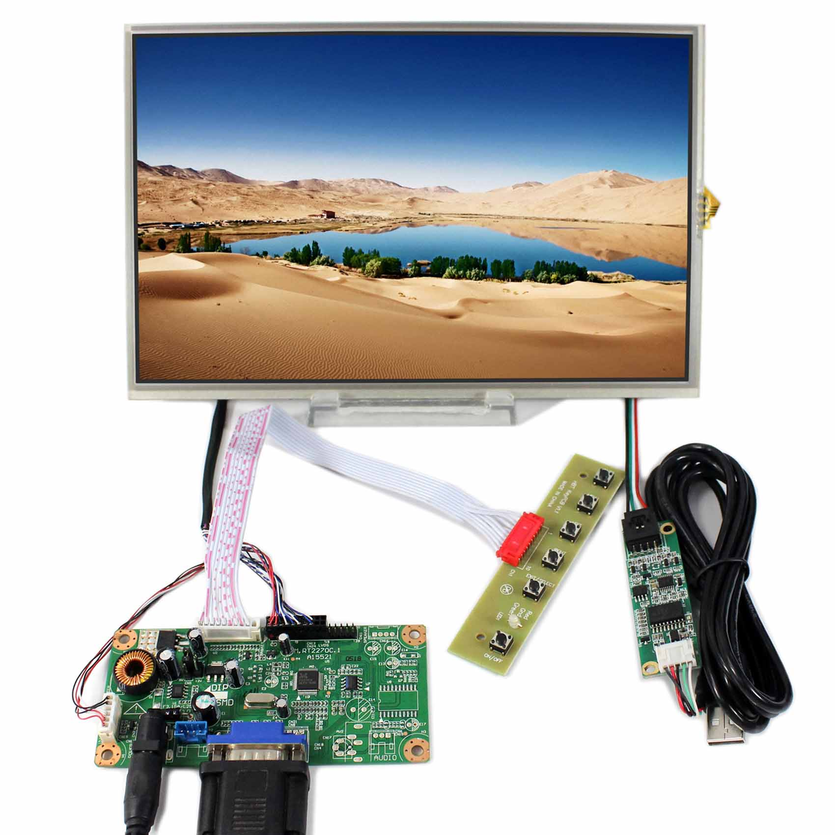 VGA LCD Controller Board RT2270C-A+10.1inch 1280X800 B101EW05 LP101WX1 LCD With Touch Screen vga lcd controller board rt2270c 8 4inch 640x480 aa084vc03 lcd screen