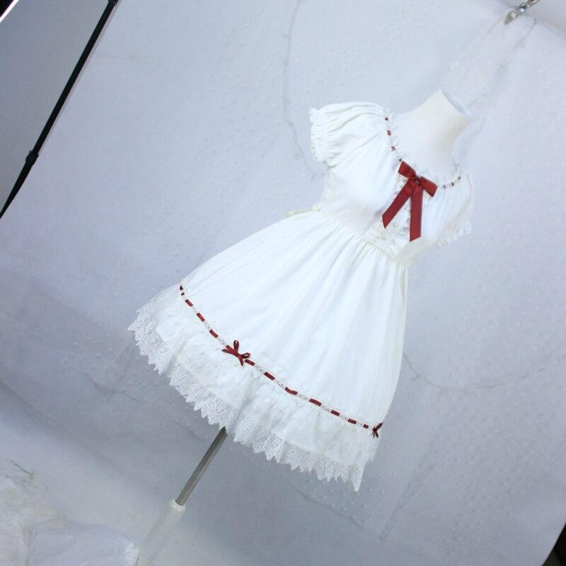 Robe de soirée princesse Kawaii Lolita OP blanc pour filles