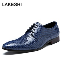 Мужские модельные туфли; Мужская официальная обувь; свадебные туфли с острым носком; модные оксфорды из крокодиловой кожи; деловая официальная обувь для мужчин; размер 48