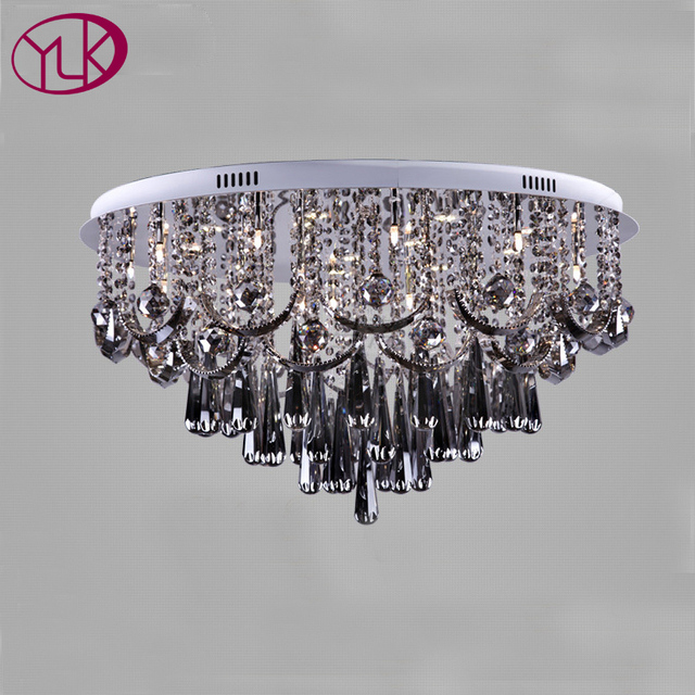 Youlaike smoke grey crystal chandelier for living room dia80h45cm youlaike smoke grey crystal chandelier for living room dia80h45cm modern led crystal lamp for aloadofball Image collections