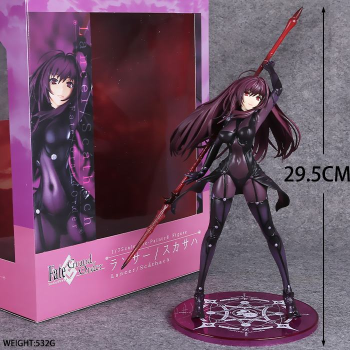 Free Shipping 12 Fate/Grand Order Lancer Scathach 1/7 Scale Boxed 30cm PVC Action Figure Collection Model Doll Toy Gift free shipping super big size 12 super mario with star action figure display collection model toy