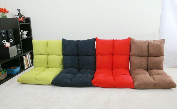 """Preguiçoso Cadeira Chão 4 Cores Linda Reclinável Japonês """"Zaisu"""" assento Reclinável Moderna Forma de Lazer 5 Passo Adjsutable Cadeira Preguiçosa"""