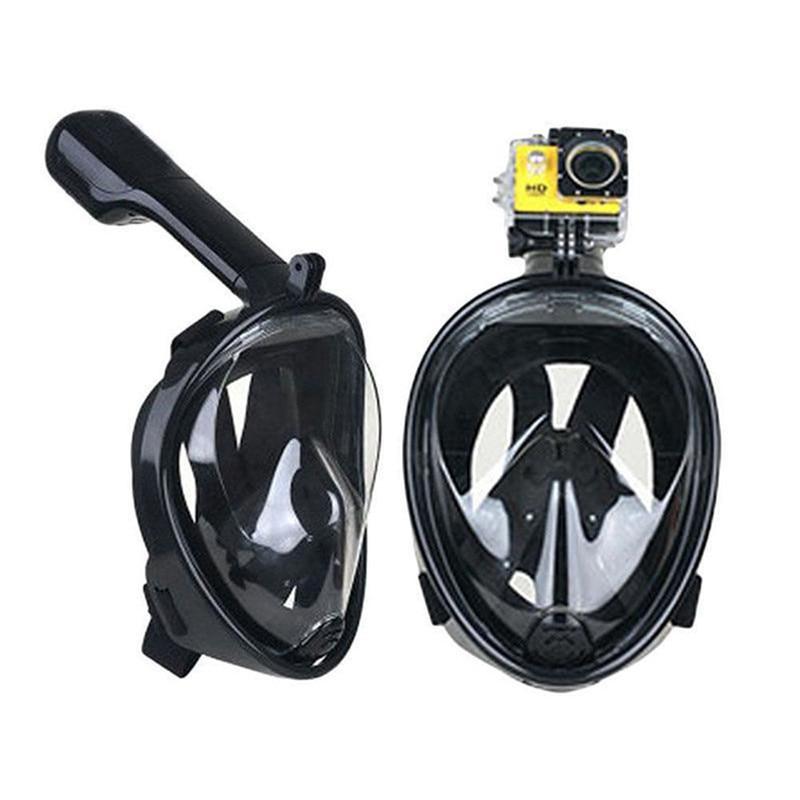 Miroir surface Respirant Tuba Masque Sous-Marine Anti Brouillard Full Face Snorkeling Plongée Masque Avec Anti-dérapage Anneau Tuba