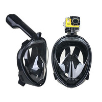 Mirror surface Breathable Snorkel Mask Underwater Anti Fog Full Face Snorkeling Diving Mask With Anti skid Ring Snorkel