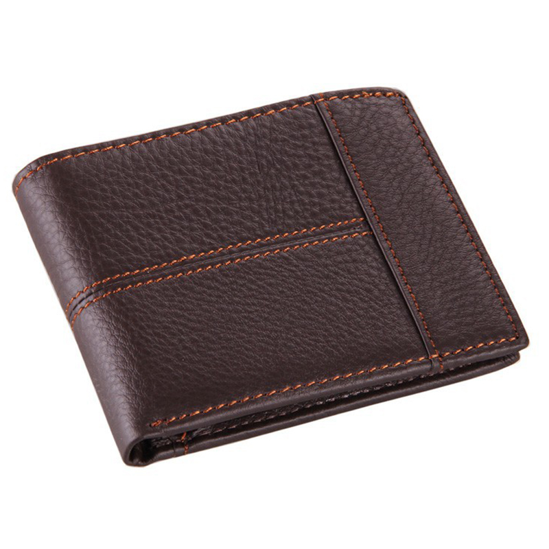 Imucaplus Brand Real Cowhide Genuine Leather Short Wallet Small Money Bag ID Credit Card Holder Slim Coin Purse For Men new 2017 pink hollow leaf short wallet women wallets small purse for girls credit id card holder money coin bag christmas gifts