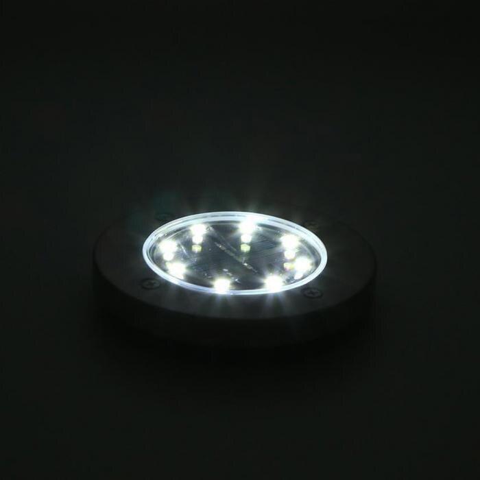4 Pcs/set  LED Solar Power Buried Light 8 LEDs Ground Lamp Outdoor Path Way Garden Decor White Four 7
