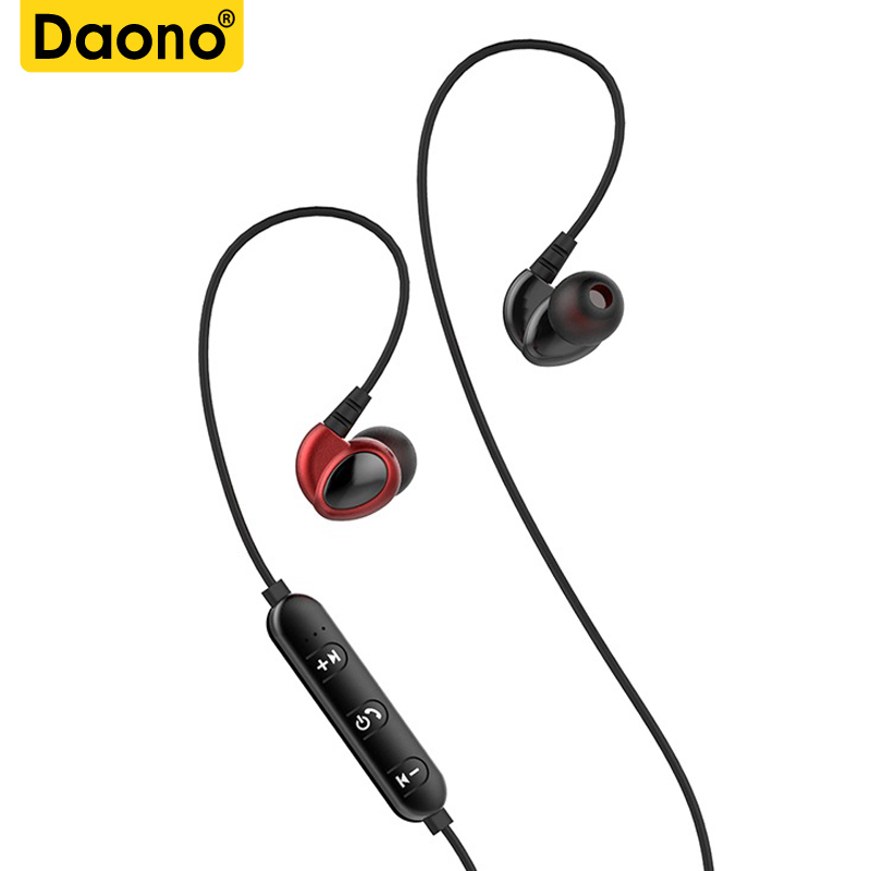 DAONO T2 Wireless Bluetooth earphone in ear Headset Sport magnetic earpiece with microphone bluetooth earbuds for mobile phone
