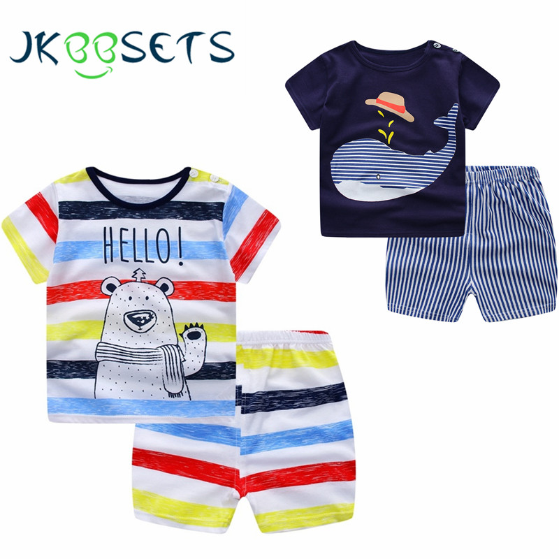 Baby Boy Clothes Summer 2018 Newborn Baby Boys Baby Girls Clothes Set Cotton Baby Clothing Suit (Shirt+Pants) Infant Clothes Set baby boy clothes monkey cotton t shirt plaid outwear casual pants newborn boy clothes baby clothing set