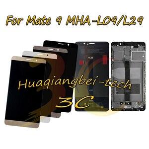 Image 1 - 5.9 新華為メイト 9 MHA L09 MHA L29 フル Lcd ディスプレイ + タッチスクリーンデジタイザ国会 + フレームカバー 100% テスト