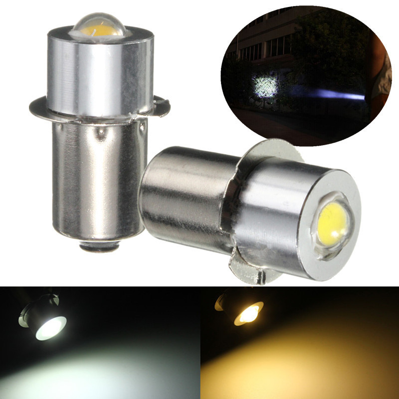 все цены на LED Light Flashlight Bulb P13.5S PR2 1W 90 Lumen Warm Pure White For Interior Bike Torch Spot Lamp Work Lights Bulb DC18V онлайн