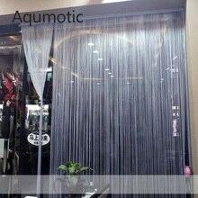 Aqumotic Large Wide Room Divider Screens Dividers Curtain Tassel Hanging White Lining Green Folding Blue Black Fine