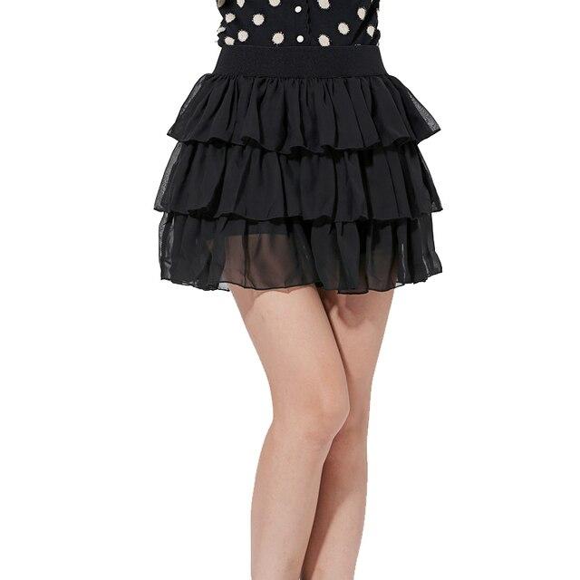 f1aafd5cee Skirts Womens Lanon Chiffon Black Tulle Mini Skirt Pleated Sexy Lolita  Style Patchwork Ruffles Summer Women's Clothing