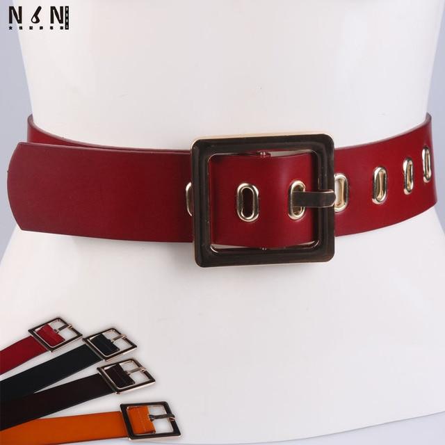 Новая тенденция женская ультра широкий кожаный пояс моды контактный пряжки украшены кожаный ремень талии украшения V320