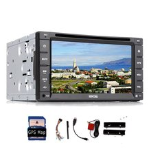 "6.2"" 2 Din Multi-touchScreen Car DVD Player GPS navi stereo Radio FAST 800 MHz Built-in BT Mic ipod+GPS Map Card+Remote control"