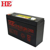 HE 6V 12AH rechargeable sealed lead acid storage battery agm deep cycle solar battery replace 10ah 14ah 151x50x94mm