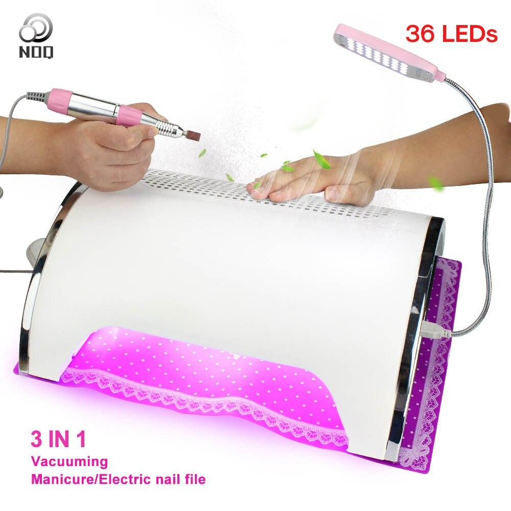 NOQ 36 LED s aspirateur UF lampe pour ongles ongles dépoussiéreur Aspiratori LED dépoussiéreur 72 W ongle UV thérapie lampe perceuse