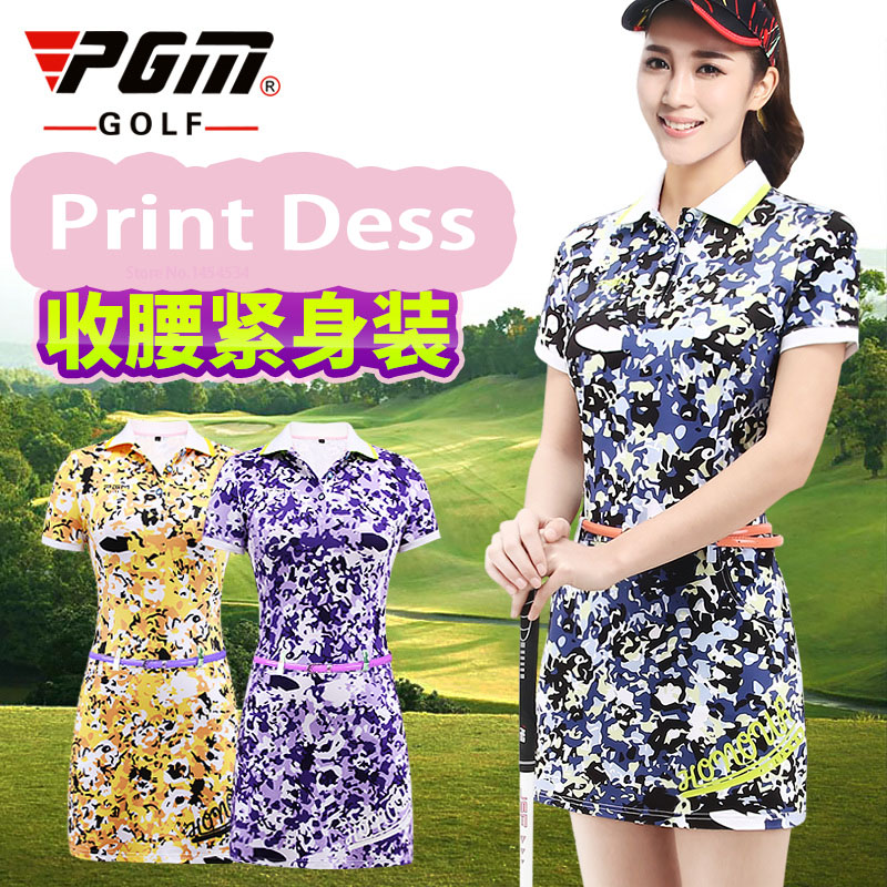 Send Sock! Women Summer Apparel Slim Badminton Thin Dress Elasticity Vestido Tennis Golf Dress Wear Quality Print Lady Clothes 2018 summer new badminton dress women speed dry badminton suit sports suit women s dress