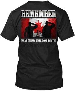 Канадская Военная память-Oa помните, какая футболка