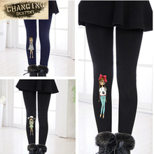 2 7 years old font b Children s b font Stretchy Pants Autumn Winter Cartoon Printing