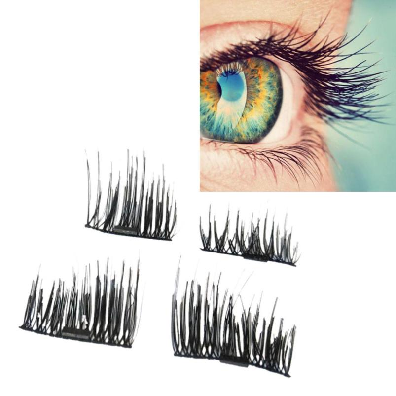 magnetic eyelashes 0.2mm thin 3D Reusable False Eyelashes Synthetic Hair magnetic eyelas ...