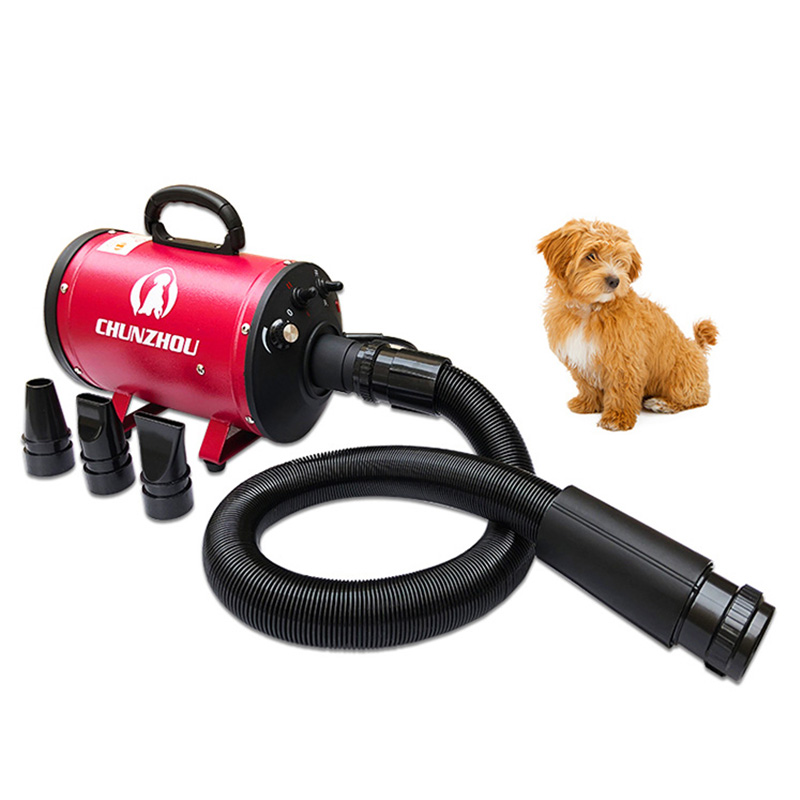 BS2400 Pet Dryer Single Motor Strong Power Low Noice Stepless Speed 2400W Dog Hair Dryer Sent Towel