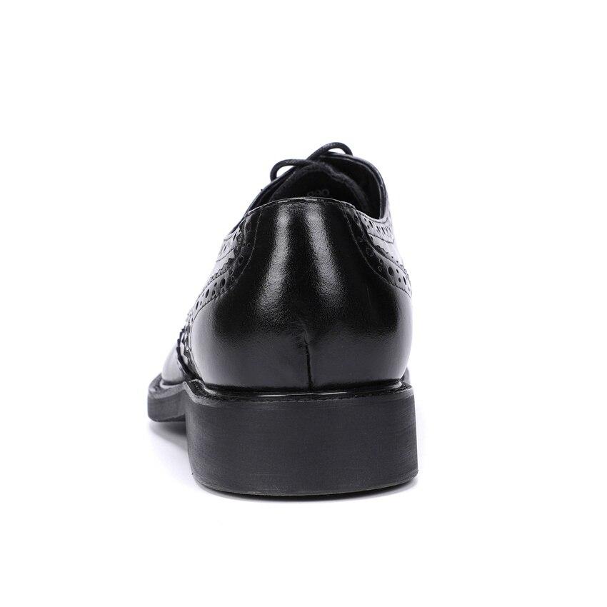 Handmade Britânico Formal Brogue Calçados Dos Dedo up Homens Homem Vestido vermelho Designer Preto Ymx534 Genuíno Lace Sapatos De Vinho Couro Redondo Plataforma Derby Do Pé YIdqfC