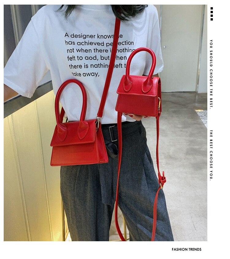 Small bag female 2019 new Korean version of the handbag wild shoulder bag fashion texture small square bag