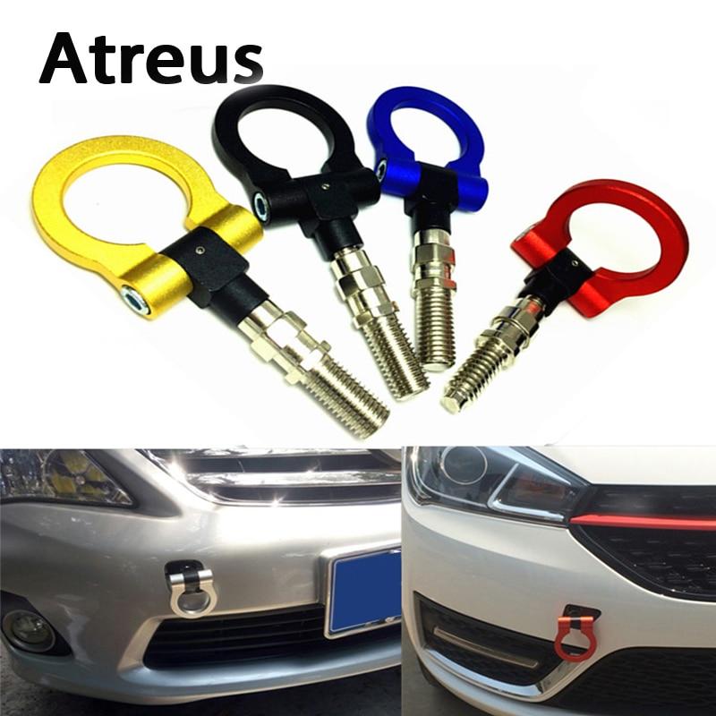 Atreus 1PCS Car Auto Trailer Ring Hook Vehicle Towing Hanger for Mercedes benz W204 W203 W211 AMG Mini cooper Skoda octavia a5 auto fuel filter 163 477 0201 163 477 0701 for mercedes benz