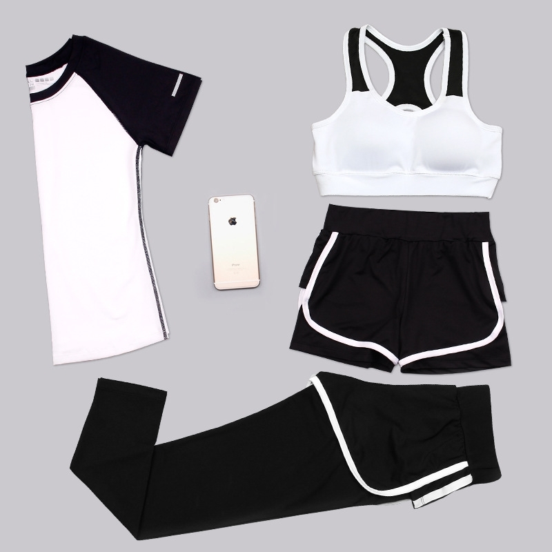 Aipbunny 4 Pieces Yoga Sets 2017 Gym Fitness Women Exercise Activewear Running Suits Plus size XXXL Workout Clothing SportsWear 5