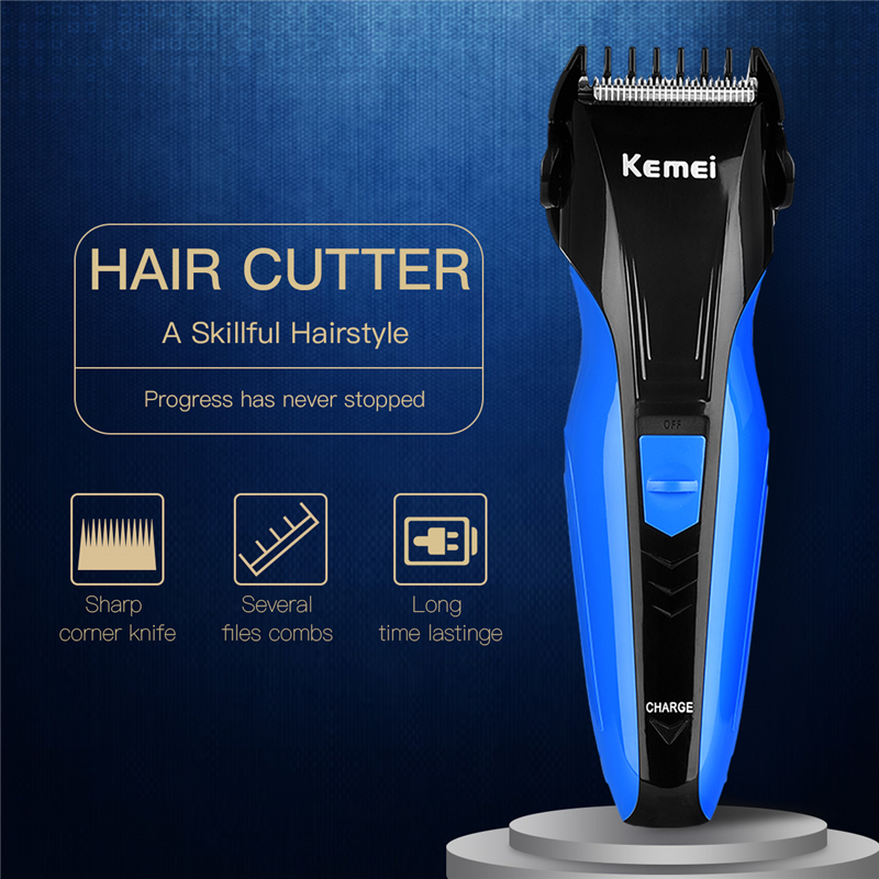 Rechargeable Men Hair Trimmer Clippers Face Care Electronic Razor Shaving Beard Shaver Haircut Machine Kit Tools with Comb kemei 2 heads rechargeable electric shaver reciprocating electronic shaving machine rotary hair trimmer face care razor bt 086