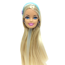 NK One Pcs Original Doll Head With 6 pcs necklace For Barbie Dolls Best DIY Gift