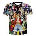 Nova Moda 3D Impresso Dos Desenhos Animados do Anime One Piece Luffy Pokemon Camiseta gráfico Engraçado T-shirt de Manga Curta Unisex Verão Tops 5XL