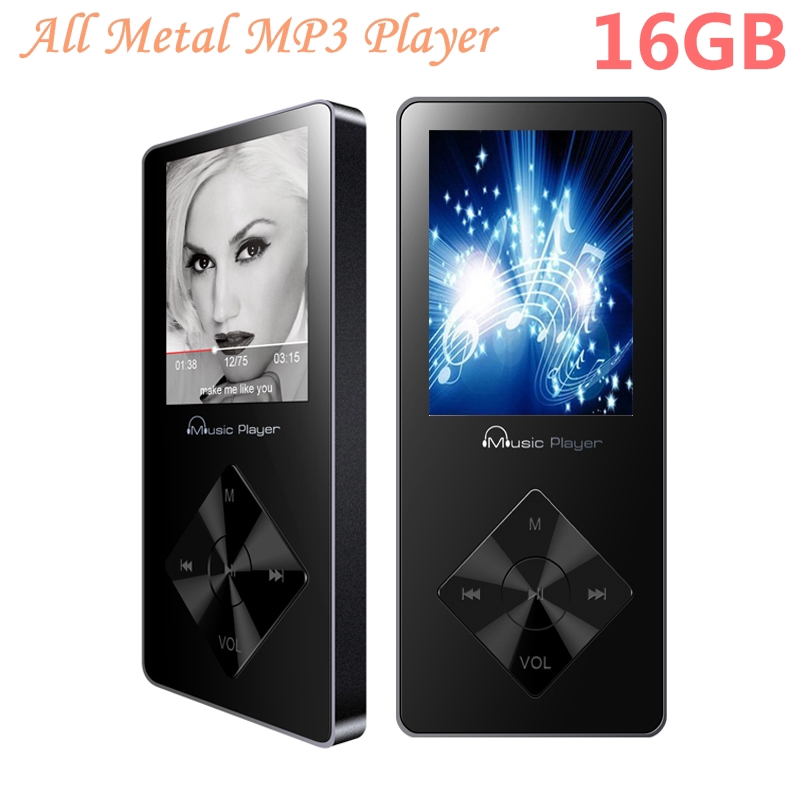 Portable HiFi mp3 player 16GB Built in Speaker MP3 Music Player Walkman Audio Video Player Hi