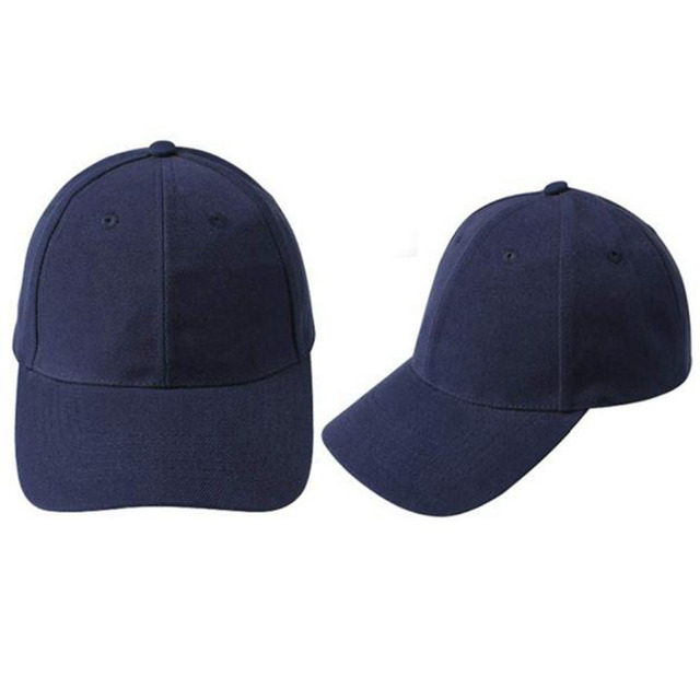 New trendy solid color baseball cap for women men Blank hip hop style  Adjustable summer Hat high quality gorras planas  48 412c3801bb7