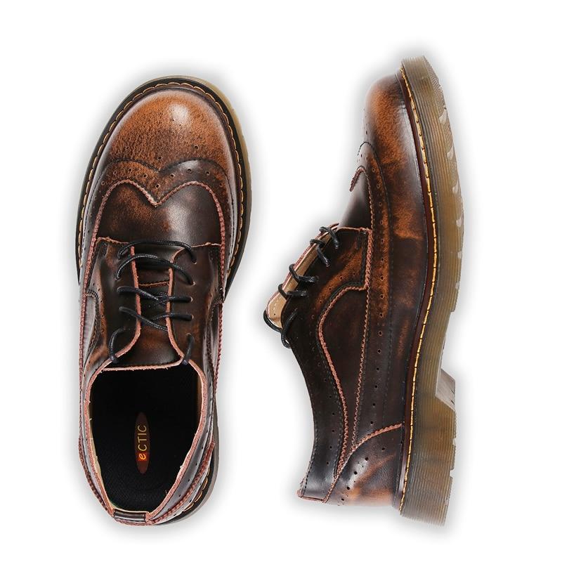 9c16e302a8e Steampunk Estilo Hombres de la Marca de Plataforma de Los Zapatos de Los Hombres  Zapatos de Los Oxfords Brogue Estilo Británico Creepers Recortes Planos ...