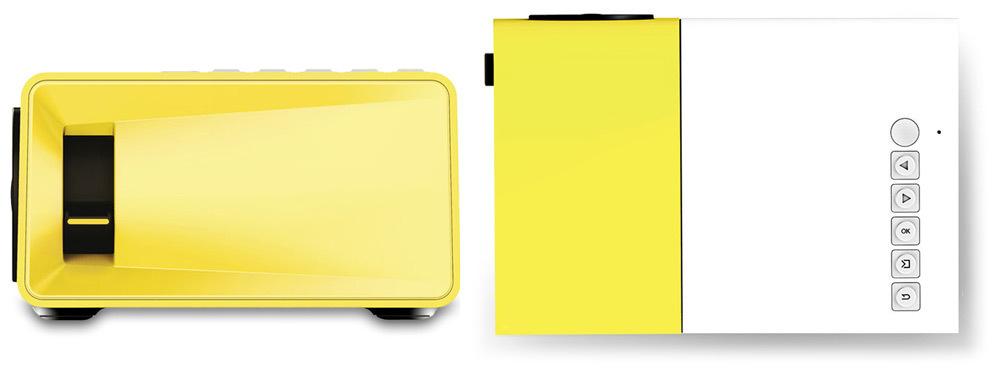 Mais novo Excelvan Mini YG300 Projetor LCD 400 - 600 Lumens 320 x 240 Pixels 3.5mm AudioHDMIUSBSD Entradas Mídia ProyectorBeamer (33)