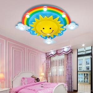 Image 3 - 크리 에이 티브 어린이 방 침실 천장 조명 따뜻한 빛 눈 led 소년과 소녀 만화 어린이 룸 조명