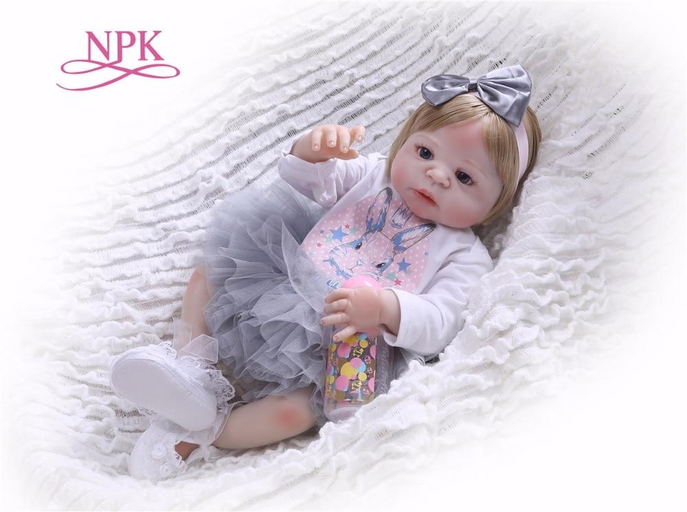 NPK Boneca Reborn modern Full Vinyl Reborn Baby Doll Toys Lifelike Child Birthday Xmas Gift HOT