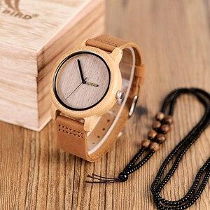 Image 3 - BOBO BIRD Bamboo Wooden Watches Men Japan Quartz Watch For Male Engrave Pointer Logo Laser Customized Dropshipping
