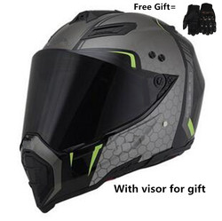 Kask dla dorosłych DOT dla Dirtbike ATV Motocross MX Offroad motocykl miejski skuter śnieżny kask z wizjerem (średni  biały połyskowy)